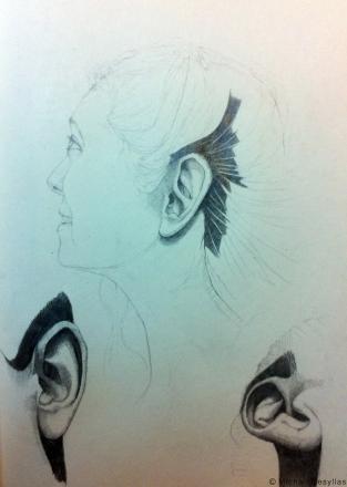 MD_Drawing_02_Ear Study_2011